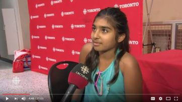 Sameeyah Nensi Interviewed by CBC News Toronto: Cheering Team Canada at Rio Olympics 2016