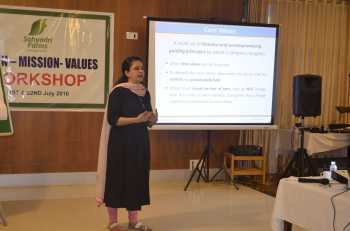 Dr. Farida Virani: Workshop - Creation of Vision, Mission and Value Statement for Sahyadri Farms