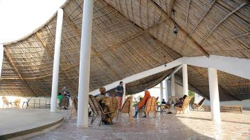 The gathering space is used for cultural and social activities. - AKTC / Dev TV