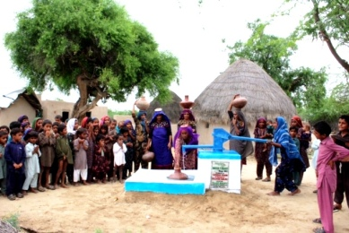 Village pump Dr. Gulshan Harjee supported project