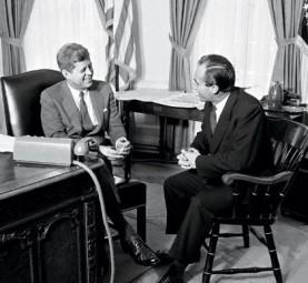 With President John F. Kennedy, Washington, DC, 1961. Photo: Vanity Fair
