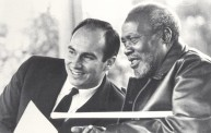 With President Jomo Kenyatta, Kenya, 1966. Photo: 25 Years in Pictures