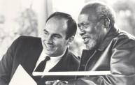 With President Jomo Kenyatta, Kenya, 1966. Photo: 25 Years in Pictures