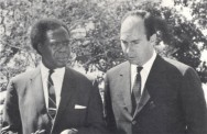 With President Milton Obote, Uganda, 1966. Photo: 25 Years in Pictures