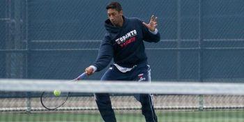 Zain Manji playing tennis