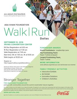 The Aga Khan Foundation Dallas Annual Walk & Run