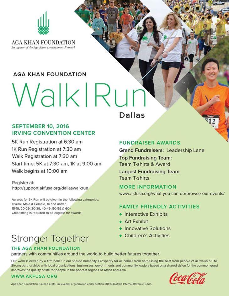 The Aga Khan Foundation Dallas Annual Walk & Run