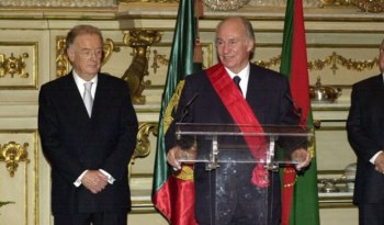 His Highness the Aga Khan speaks after being awarded the Military Order of Christ.