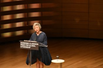 Remarks by Adrienne Clarkson, Adrienne Clarkson Prize for Global Citizenship