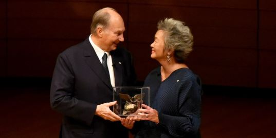 Adrienne Clarkson Prize for Global Citizenship medal presented to His Highness Prince Karim Aga Khan. (image credit The Ismaili/Vazir Karsan)