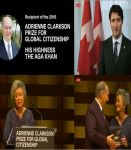 Social Media Messages: Inaugural Adrienne Clarkson Prize for His Highness the Aga Khan