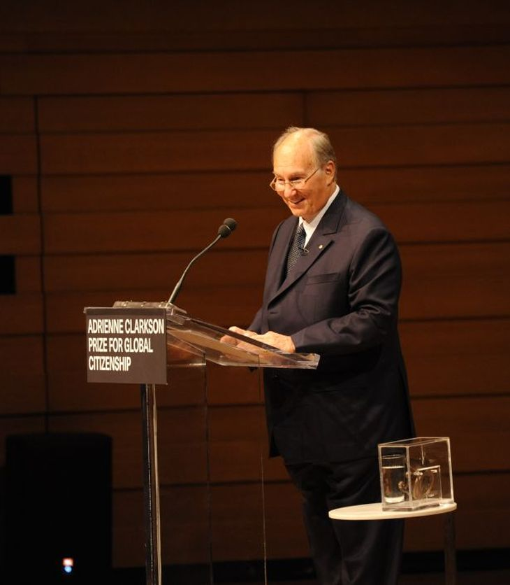 Speech byHis Highness the Aga KhanAccepting the Adrienne Clarkson Prize for Global Citizenship