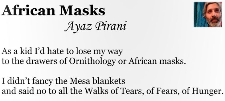 Published Poetry by Ayaz Pirani: African Masks