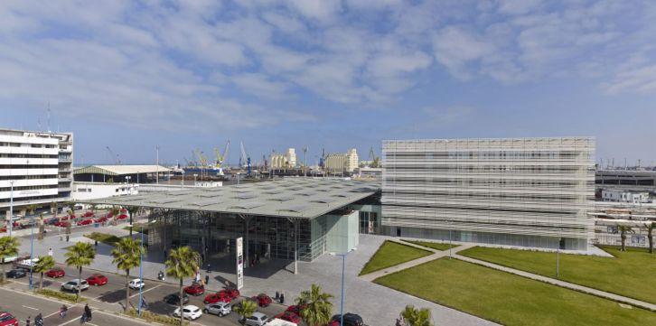 Facing the port of Casablanca, Casa-Port New Railway Station, Casablanca, Morocco