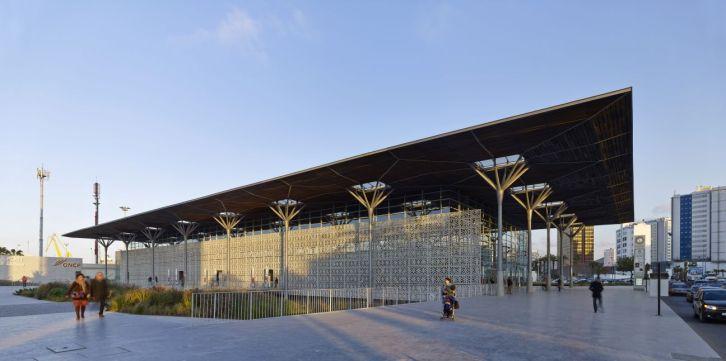 Modern mashrabiyya on the west facade, Casa-Port New Railway Station, Casablanca, Morocco