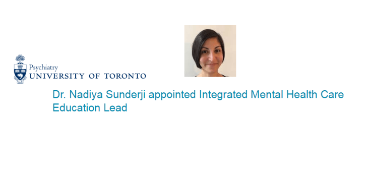 Dr. Nadiya Sunderji receives Early Career Development Award