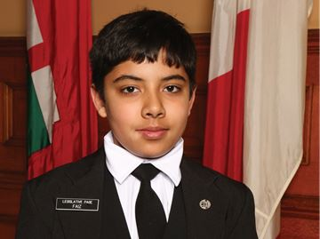 Faiz Jan: Nepean teen gets a taste of politics at Queen's Park