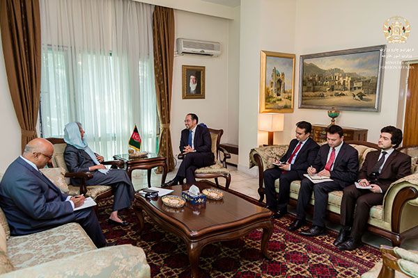 Diplomatic Representative of the Aga Khan Development Network, Nurjehan MawaniCalls on the Afghanistan Minister of Foreign Affairs