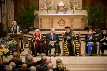 The convocation of the Pontifical Institute of Mediaeval Studies took place at St Basil's Collegiate Church in Toronto. Mr. David Mulroney, President of the University of St. Michael's College and former Ambassador to the Republic of China delivered the citation. (Image credit: AKDN / Mo Govindji)