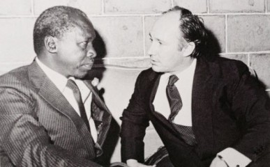 With President Daniel Arap Moi, Kenya, 1981. Photo: 25 Years in Pictures