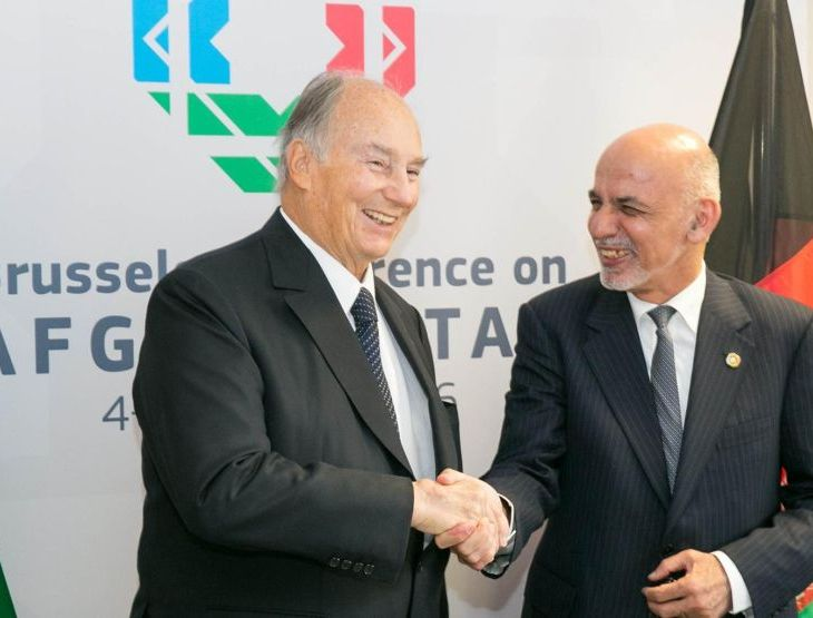 His Highness Prince Karim Aga Khan at the Brussels Conference on Afghanistan