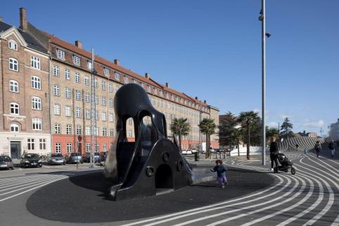 Located in Nørrebro area. Aga Khan Award for Architecture 2016 Winner: Superkilen, Copenhagen, Denmark