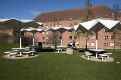 Armenian picnic tables. Aga Khan Award for Architecture 2016 Winner: Superkilen, Copenhagen, Denmark