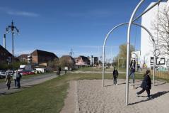 Meeting point for people in the community. Aga Khan Award for Architecture 2016 Winner: Superkilen, Copenhagen, Denmark