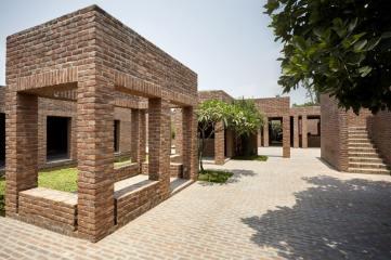 Earthen bundh is organised via two entrance stairs. Aga Khan Award for Architecture 2016 Winner: Friendship Centre Gaibandha, Bangladesh