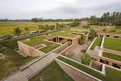 Centre rises and exists as echo of ruins. Aga Khan Award for Architecture 2016 Winner: Friendship Centre Gaibandha, Bangladesh