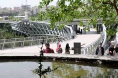 Set of decks that foster human activities. Aga Khan Award for Architecture 2016 Winner: Tabiat Pedestrian Bridge, Tehran