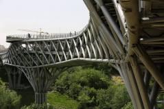 Topography of the sloppy site. Aga Khan Award for Architecture 2016 Winner: Tabiat Pedestrian Bridge, Tehran