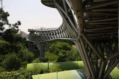 Minimising the footprint . Aga Khan Award for Architecture 2016 Winner: Tabiat Pedestrian Bridge, Tehran
