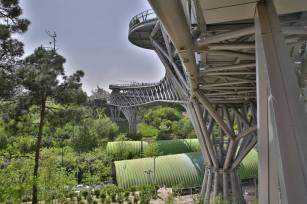Form of the columns. Aga Khan Award for Architecture 2016 Winner: Tabiat Pedestrian Bridge, Tehran