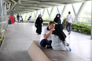 First level. Aga Khan Award for Architecture 2016 Winner: Tabiat Pedestrian Bridge, Tehran