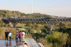 270 meters long pedestrian bridge. Aga Khan Award for Architecture 2016 Winner: Tabiat Pedestrian Bridge, Tehran