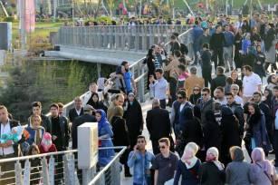 Curved path. Aga Khan Award for Architecture 2016 Winner: Tabiat Pedestrian Bridge, Tehran