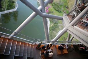 Restaurants and cafes. Aga Khan Award for Architecture 2016 Winner: Tabiat Pedestrian Bridge, Tehran