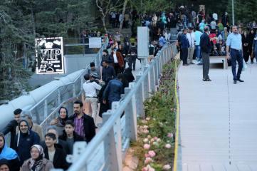 Upper level of the bridge. Aga Khan Award for Architecture 2016 Winner: Tabiat Pedestrian Bridge, Tehran