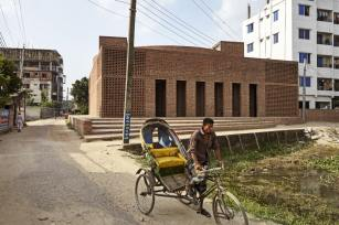 Built in brick using traditional methods. Aga Khan Award for Architecture 2016 Winner: Bait ur Rouf Mosque Dhaka, Bangladesh
