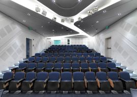 Auditorium: Aga Khan Award for Architecture 2016 Winning Project: Issam Fares Institute Beirut, Lebanon
