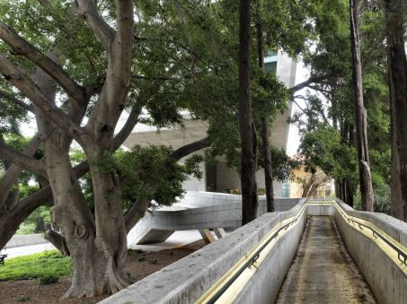 Ramp leads between the centenary: Aga Khan Award for Architecture 2016 Winning Project: Issam Fares Institute Beirut, Lebanon