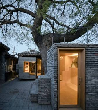 Under a big Chinese scholar tree. Aga Khan Award for Architecture 2016 Winner: Hutong Children's Library and Art Centre Beijing, China