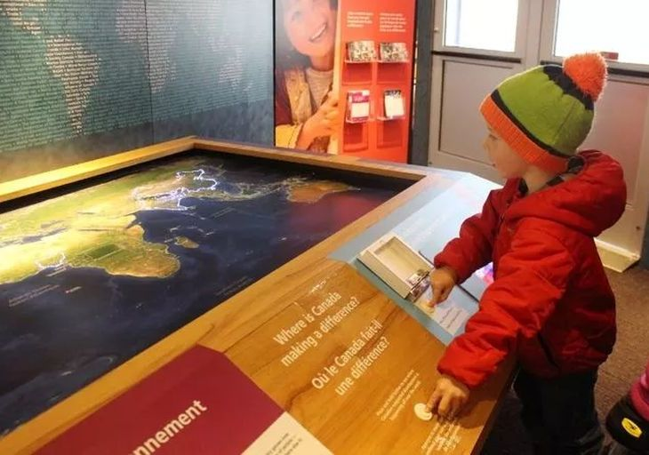 Aga Khan Foundation Canada's interactive traveling exhibition on global development work drew hundreds to Museum Square