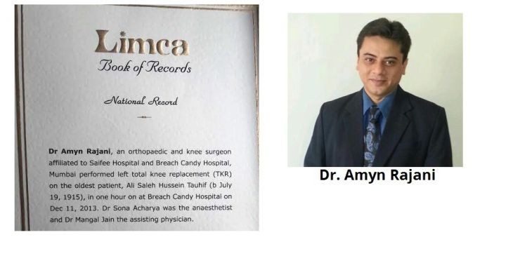 Dr Amyn Rajani performs knee replacement surgery on oldest patient in the world