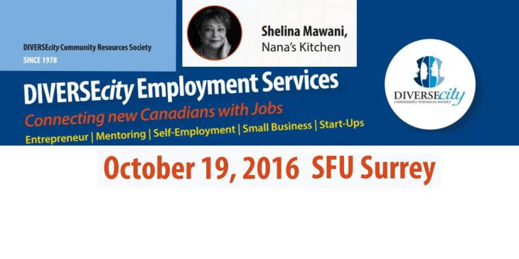 Shelina Mawani of Nana's Kitchen to present at DIVERSEcity's Immigrant Entrepreneur and Small Business Fair