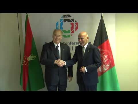 Afghan President meets His Highness the Aga Khan   Brussels Conference on Afghanistan