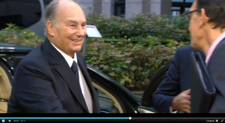 His Highness arrives at the Brussels Conference on Afghanistan