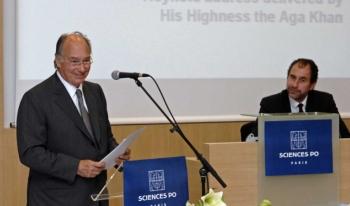 His Highness the Aga Khan speaking at Graduation Ceremony of the Masters of Public Affairs (MPA) Programme at the Institut d'Etudes Politiques de Paris (Sciences Po).