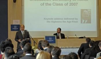 His Highness the AgaKhan at Graduation Ceremony of the Masters of Public Affairs (MPA) Programme at the Institut d'Etudes Politiques de Paris (Sciences Po), France